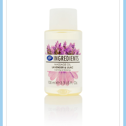 lavender & Lilac massage oil imported brand boots